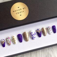 Prince Purple Rain Press On Nails 3D Gel Rain by NailedByCristy