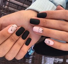 Nail art is a very popular trend these days and every woman you meet seems to have beautiful nails. It used to be that women would just go get a manicure or pedicure to get their nails trimmed and shaped with just a few coats of plain nail polish. Square Nail Designs, Black Nail Designs, Winter Nail Designs, Nail Art Designs, Nails Design, Nail Manicure, Manicures, Nail Polish, Stylish Nails