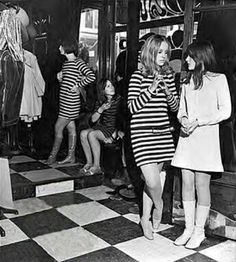 Girls in the Biba boutique, London, 1960s.