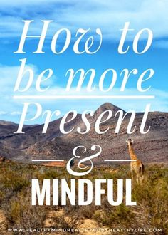 How to be more present in life Health And Wellness, Health Fitness, Mental Health, Meditation For Anxiety, Declutter Your Mind, Low Mood, Coping With Depression, Mind Power, Healthy Living Tips
