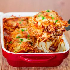 4-Ingredient Chicken Enchilada Casserole | AllFreeCasseroleRecipes.com