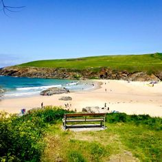 Trevone Bay cornwall on the North Cornish coast, 40 minutes drive from Bosinver Holiday Cottages.