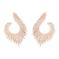 Latelita - Flame Hoop Earrings Rosegold