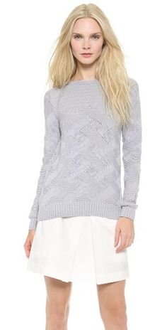 ea8c1291a38 Soft cable-knit cotton composes a cozy M