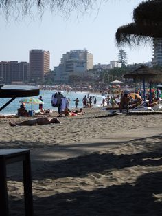 1987 June, One of the beautiful beaches in Benalmadena, Spain