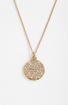 kate spade new york 'idiom - all that glitters' boxed pavé pendant necklace | Nordstrom