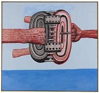 Philip Guston, Hinged, 1978, Oil on canvas, 174 x 187 cm (68,5 x 73,6 in)