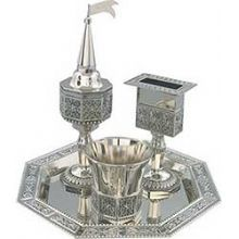 Havdallah Sets, Wine Goblet, Spice Container, candle holder – Zion Judaica