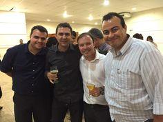Turma boa: o gerente nacional Danilo Santejani; o diretor de marketing Leonardo Barros e Ademar Alves, diretor comercial