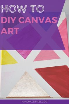 A fun & easy project to complete on your own or with your kids. This is a simple and quick step-by-step guide on how to make this canvas art. | canvas painting ideas | canvas wall art | canvas painting ideas for beginners | canvas painting ideas for kids |  canvas painting ideas acrylic | canvas painting ideas easy | canvas kids art | canvas kids painting ideas | canvas kids art ideas | canvas wall art diy | canvas wall decor | canvas wall art ideas | canvas kids painting | Beginner Painting On Canvas, Painting For Kids, Mini Canvas Art, Kids Canvas, Canvas Wall Decor, Diy Wall Art, Diy Crafts How To Make, Inspirational Wall Art, Painting Lessons