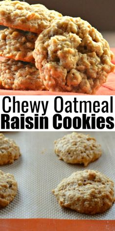Amazing Cookie Recipes, Oatmeal Cookie Recipes, Oatmeal Raisin Cookies, Oatmeal Raisins, Beef Recipes For Dinner, My Recipes, Dessert Recipes, Dessert Ideas, Baking Recipes