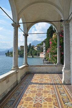View from Villa Monastero, Lake Como, Italy. Beautiful World, Beautiful Places, Places To Travel, Places To Visit, Travel Destinations, Comer See, Lake Como Italy, Italian Lakes, Italian Villa