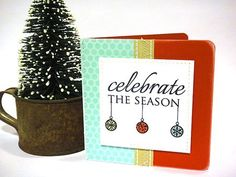 Celebrate the Season card by Heather Nichols for Papertrey Ink (October 2011).