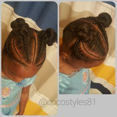 Curly short hair styles always look adorable on little girls. And since children do not take much care of Childrens Hairstyles, Baby Girl Hairstyles, Natural Hairstyles For Kids, Kids Braided Hairstyles, Cute Hairstyles, Natural Hair Styles, Toddler Hairstyles, Little Girl Braids, Braids For Kids