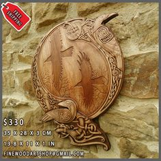 HAND MADE WOOD CARVED PICTURE