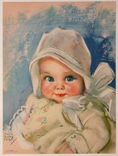Vintage Maud Tousey Fangel Baby Bunting Calendar Art by RedfordRetro Images Vintage, Art Vintage, Photo Vintage, Vintage Pictures, Vintage Postcards, Vintage Prints, Clipart Baby, Baby Clip Art, Baby Art