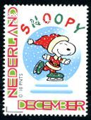 Snoopy Christmas stamp from the Netherlands Christmas Mail, Snoopy Christmas, American Comics, Netherlands, Smurfs, December, Drawings, Free, Fictional Characters