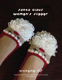 Crochet Pattern  Santa Claus Women Slipper for by kittying.com from mulu.us