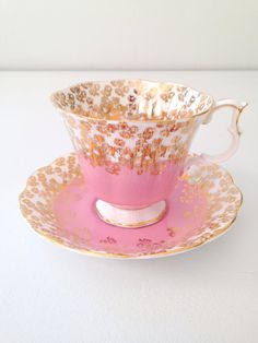 Vintage Royal Albert English Bone China Cascade Series Teacup and Saucer Tea Party