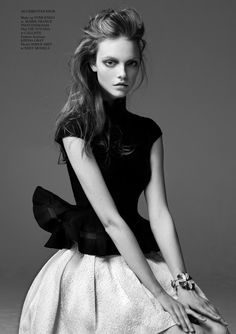 Glass Magazine #12 Winter 2012/2013Title : Happy GirlPhotography : Bojana TatarskaModel : Nimue Smit