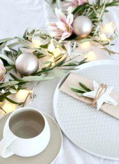 DIY Tischdekoration Table Settings, Table Decorations, Ideas, Christmas, Home Decor, Winter, Xmas, Creativity, Noel