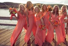 Coral Chiffon Bridesmaid Dress Rowdy in Rompers Floor Length Jumpsuit Maid of Honor Jumpsuit Rompers For Junior Girls Custom Made Size Color from Graceful_ladies,$86.55 | DHgate.com