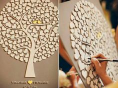 """Guest book"" tree a excellent creative  guest book idea…"