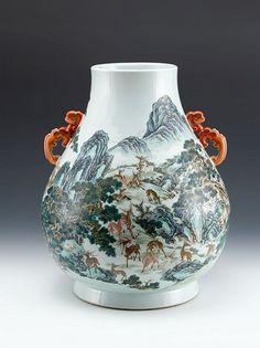 Qianlong Landscape Vase