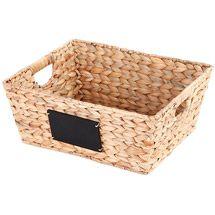 Walmart: Mainstays Storage Basket with Handles, Natural