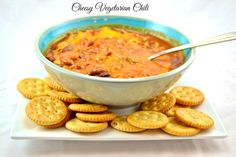 This crockpot cheesy vegetarian chili is easy to make and delicious. Made using healthy ingredients and just a few spices, the flavor will blow you away!