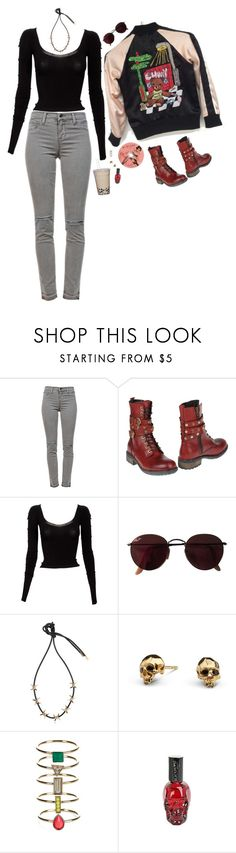 """Lazy Calm"" by bansheebeat ❤ liked on Polyvore featuring J Brand, Frankie Morello, Mark Fast, Ray-Ban, Dsquared2, Kasun and Accessorize"