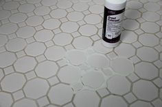 Grout colorant on white floors