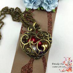"""Halskette  """"Großes Herz"""" #1112 von Hobby-Fun/kreative Schmuckideen auf DaWanda.com"""