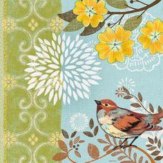 Spring Garden Sparrow by Jennifer Brinley | Ruth Levison Design