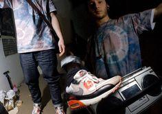 N/A Tie Dye, A Present : ) Nike Infrared Air Max, Topman Carrot Leg Jeans, Made It Myself / Ebay Diy Sony Boombox Bag