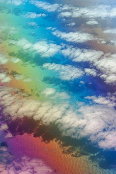 Goab, the Desert of Colors...I would be amazed to look down from the airplane and see the shadows the clouds made.