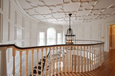 Great ceiling!  Staircases - traditional - staircase - newark - by Anthony James Construction