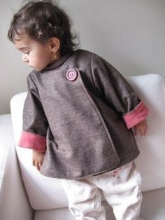 Mademoiselle coat Instant download PDF pattern 12m to 4T