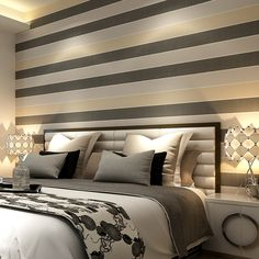 Papel de parede papel de parede 3d papel de parede papel de parede para quarto horizontal listras verticais quarto papel de parede não   tecido em Papéis de parede de Casa & jardim no AliExpress.com | Alibaba Group