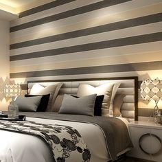 Papel de parede papel de parede 3d papel de parede papel de parede para quarto horizontal listras verticais quarto papel de parede não   tecido em Papéis de parede de Casa & jardim no AliExpress.com   Alibaba Group