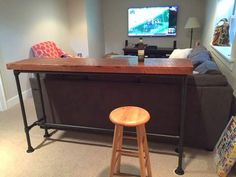 Pipe Tables For the Home. Pipe bar table for entertaining.