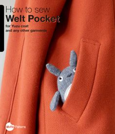 How to sew Welt Pocket for Yuzu coat / waffle patterns / sewing patterns