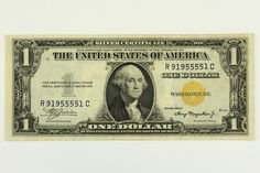 1935 A One Dollar Bill North Africa Silver Certificate Yellow Seal