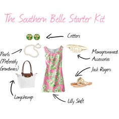 """""""The Southern Belle Starter Kit"""" by stayathomechic"""