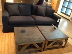 Granite slab coffee table