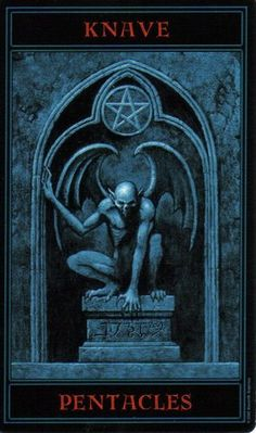 The Gothic Tarot: Knave of Pentacles