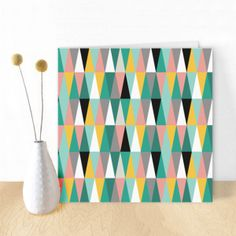 Cool scandinavian card with triangles by Oktoberdots
