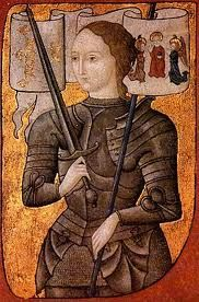 """Joan of Arc (French: Jeanne IPA: [ʒan daʁk]; – 30 May nicknamed """"The Maid of Orléans"""" (French: La Pucelle d'Orléans), is considered a heroine of France and a Roman Catholic saint Catholic Memes, Catholic Saints, Roman Catholic, Patron Saints, Saint Joan Of Arc, St Joan, Jeanne D'arc, Historia Universal, Art History"""