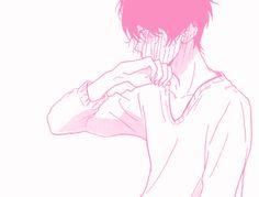 Manga, boy, and pink image Manga Anime, Boys Anime, Manga Art, Anime Art, Pink Aesthetic, Aesthetic Anime, Aesthetic Pics, Blushing Anime, Ruki Mukami
