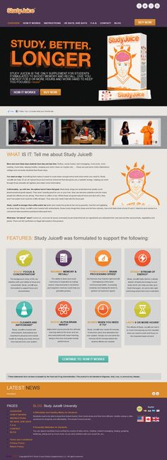 Study Juice® is the only supplement for students formulated to boost memory and recall, give you energy for 6 or more hours and work hard to keep you focused. +more >> study juice --> www.studyjuiceonline.com